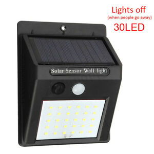 30LED-Solar-Power-Motion-Sensor-Lampada-da-giardino-Luce-esterna-impermeabile