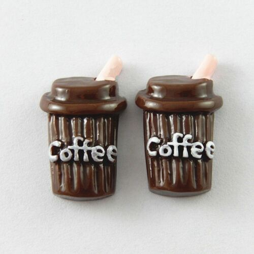 30pcs Resin Coffee Cup Resin Flatback Accessories DIY Decor Craft Findings 51765