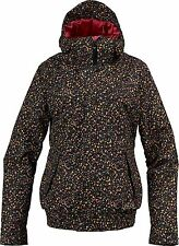 BURTON WOMEN'S TABLOID SNOW JACKET TRUEBLACK LIBERTYDOT Large Reg$300