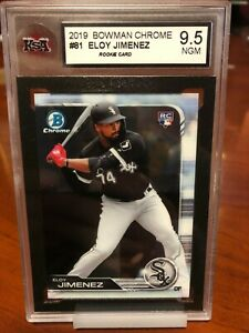2019-Bowman-Chrome-81-Eloy-Jimenez-RC-KSA-Graded-9-5-NGM-Rookie-White-Sox
