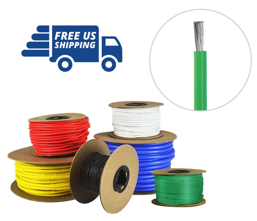 Cable calibre 12 AWG Silicona-fino de cobre estañado Strand-verde 100 pies