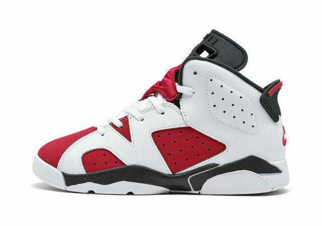 2021 Nike Air Jordan Retro 6 Carmine PS 384666-106 Size 2y for ...