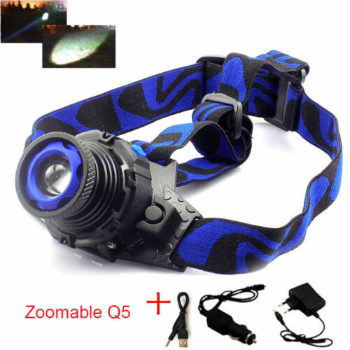Q5 LED Headlamp Flashlight Powerful Head Lamp light Torches rechargeable battery