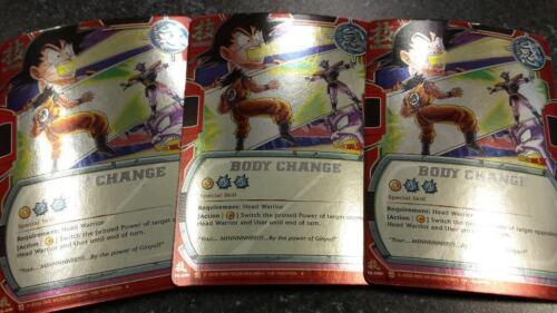BODY CHANGE TE-091 Foil Promo X3 Copies Dragon Ball CCG