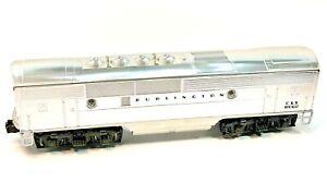 Vintage Lionel Chrome Burlington F 3B Non Powered Dummy in Original Box