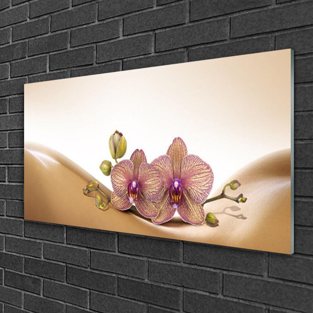 Image sur verre Tableau Impression 100x50 Floral Arbres