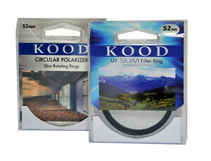 Kood-Polarizador-Circular-amp-Filtro-UV-Set-52mm-C-Pl-Uva-CPL