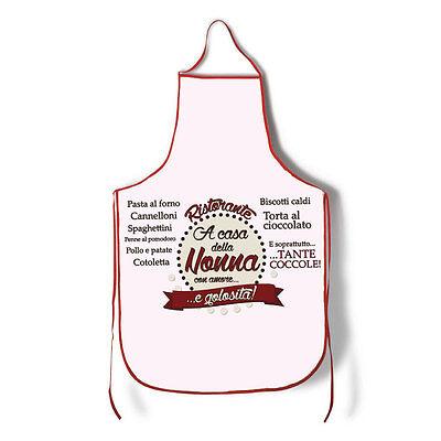 Grembiule Ristorante A Casa della Nonna, divertente idea regalo per la nonna!