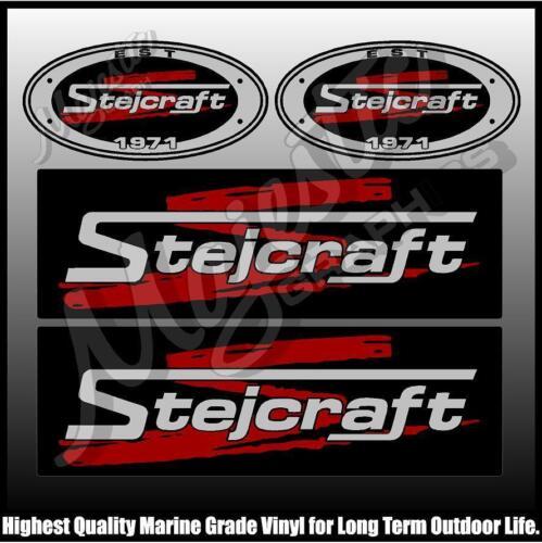 Set of 4 DECALS BOAT DECALS STEJCRAFT