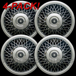 Buick Cadillac Oldsmobile Chrome Wire Hubcaps 15-inch Wheel Cover NEW - Set of 4