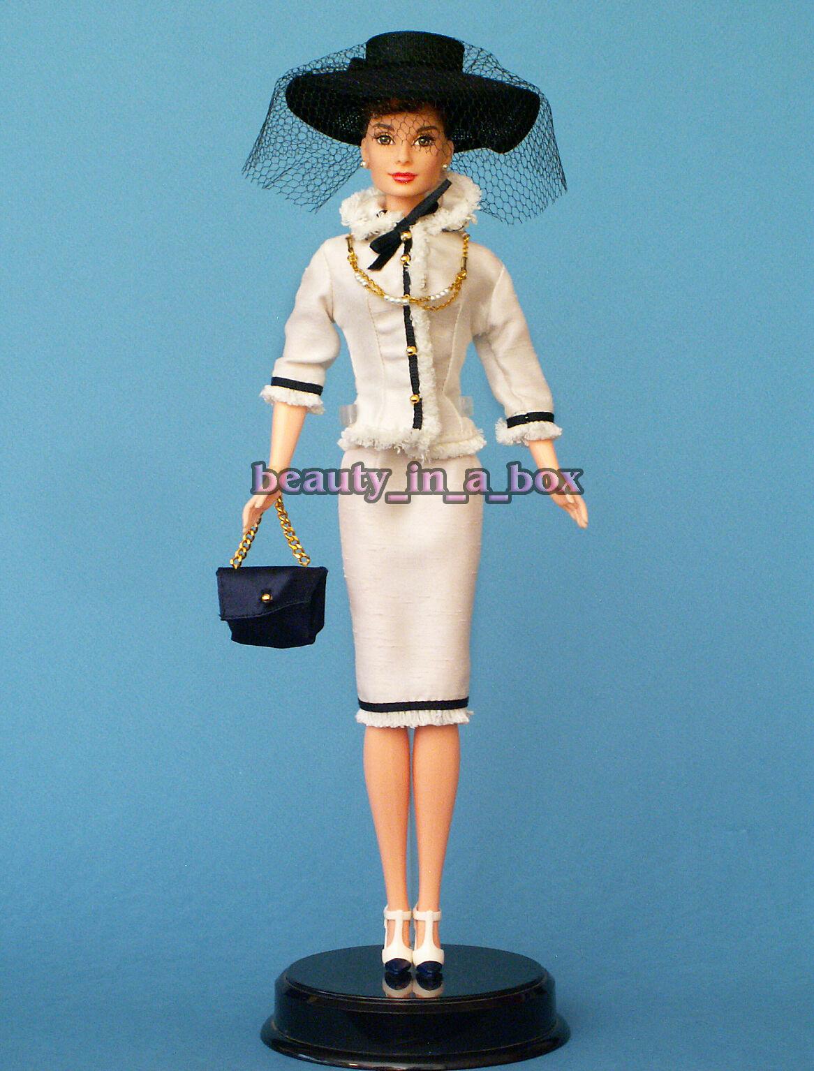 Audrey Hepburn Clásico contemporáneo conjunto Celebrity Reparación Muñeca Barbie Compacta