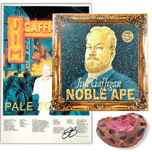 Jim-Gaffigan-Signed-Ashtray-Signed-034-Noble-Ape-034-Vinyl-and-034-Pale-Tourist-034-Poster