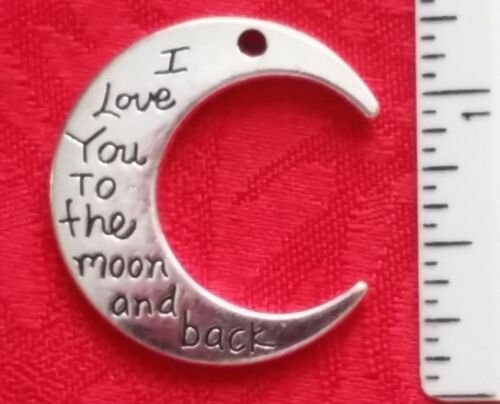 FAMILY NECKLACE I LOVE YOU TO THE MOON AND BACK CHARM BRACELET CONNECTOR