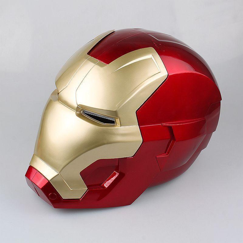 Los Vengadores Iron Man Casco Para Adultos CosJugar Anillo Sensor Switch Con Luz Led