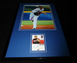 Tommy-Hanson-Signed-Framed-11x17-Photo-Display-Braves