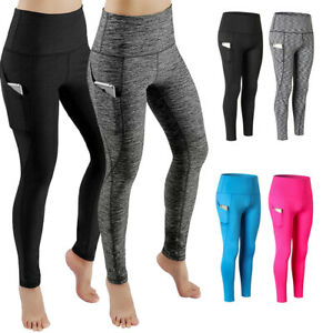dbe839937d Image is loading Womens-High-Waist-Yoga-Pants-With-Pocket-Leggings-