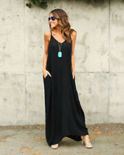 a9052229115 item 2 Womens S~XL Casual Beach V-Neck Soft Jersey Cami Long Maxi Dress  With Pocket -Womens S~XL Casual Beach V-Neck Soft Jersey Cami Long Maxi  Dress With ...