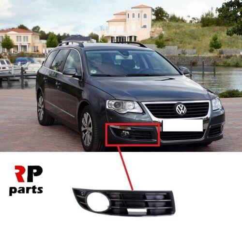 Per VW Passat B6 05-10 GRIGLIA INFERIORE PARAURTI ANTERIORE CON FORO Luce Antinebbia Destro O//S