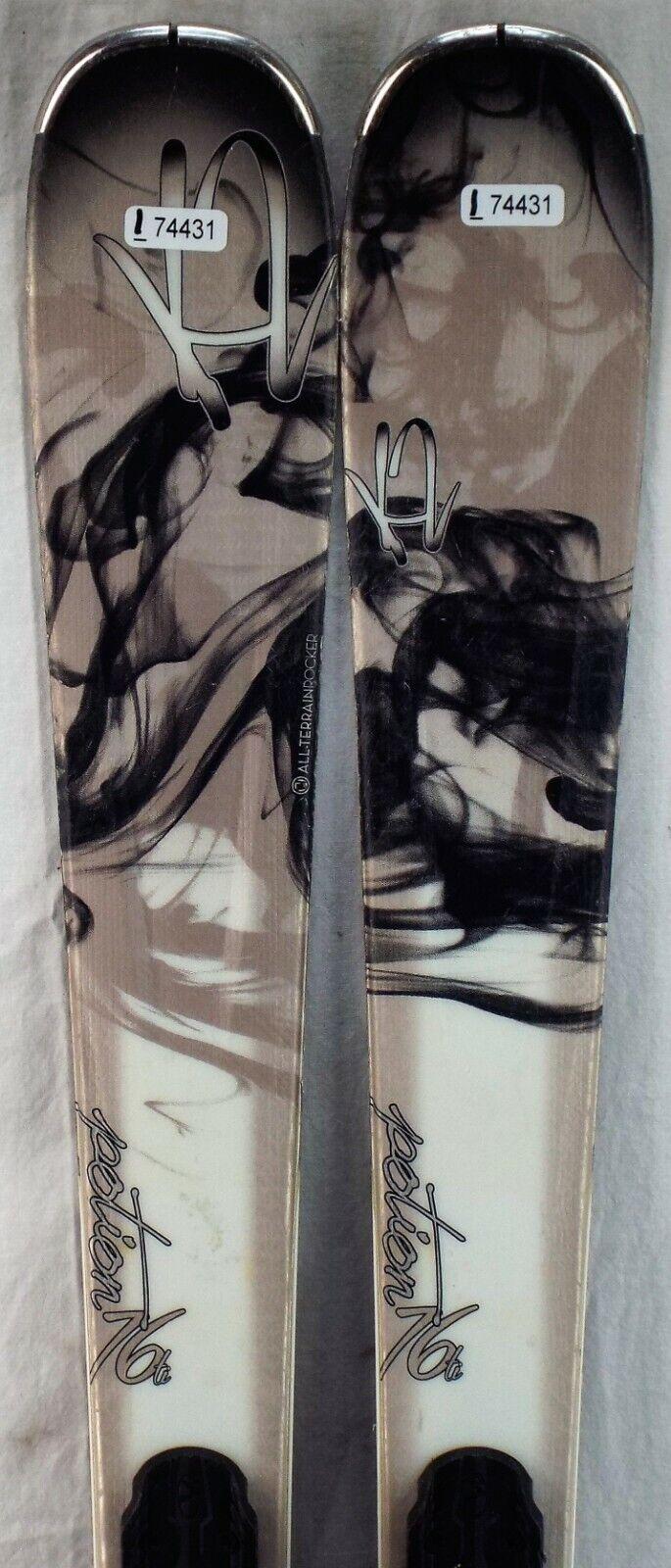 14-15 K2 Potion 76Ti Used Women's Demo Skis w Bindings Size 142cm