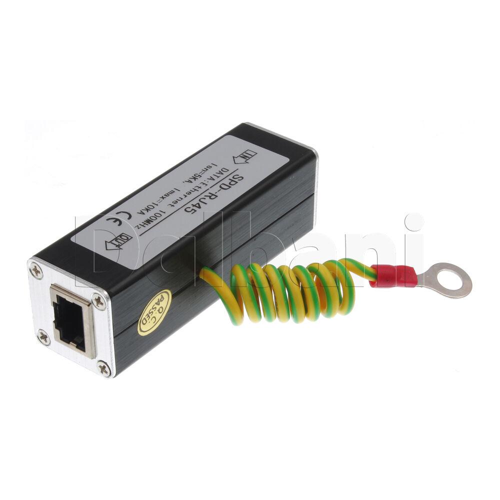38-69-0040 CCTV Coax BNC Video Power Balun Transceiver CAT5e 6 Surge Protecter