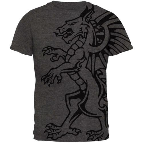Gargoyle Outline All Over Dark Heather Adult T-Shirt