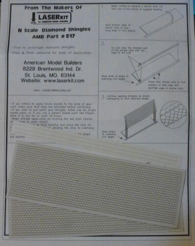American Model Builders Inc #517 N Scale Diamond Shingles