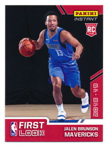 Details About 2018 19 Panini Instant Jalen Brunson Rc First Mavs Nba Rookie Card Rare Sp87