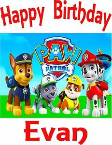 NEW PERSONALIZED CUSTOM PAW PATROL BIRTHDAY SHIRT ADD NAME