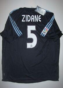 huge discount e4ab7 1652e Details about New Real Madrid Zinedine Zidane Adidas Kit Jersey 2003 Away  Kit Shirt France
