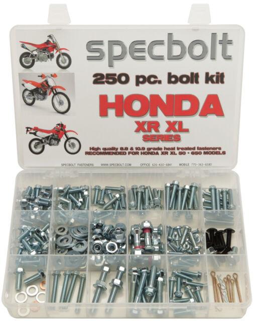 Specbolt 250 piece Bolt Kit Honda XR XL 50 70 80 100 185 200 250 400 500 600 650