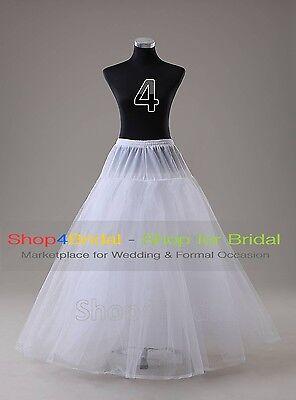 White Wedding Ball Gown Hoop/Hoopless/Mermaid Fishtail Crinoline Petticoat Slips