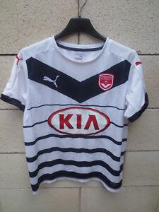 Maillot-GIRONDINS-de-BORDEAUX-porte-n-14-PUMA-away-mariniere-camiseta-KIA-14-ans