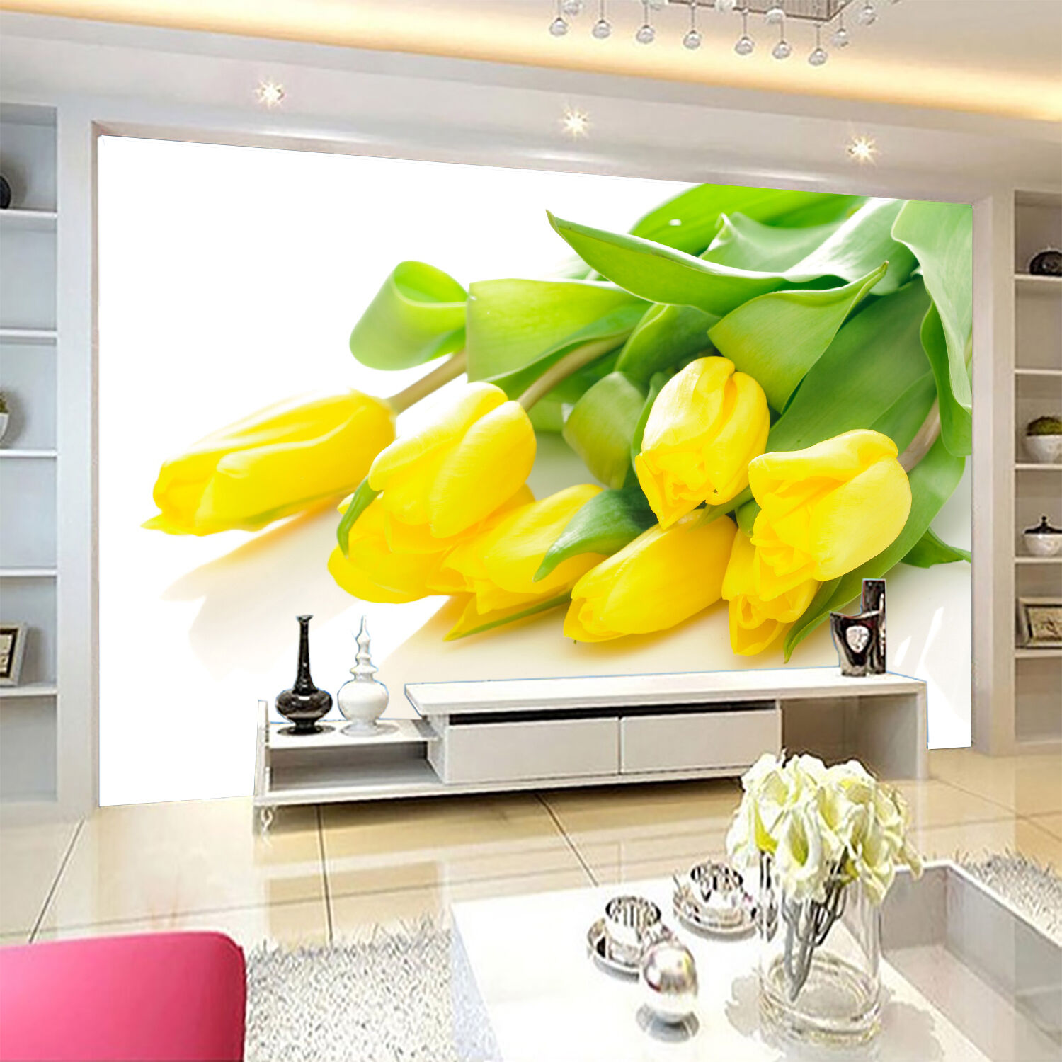 3D Tulip Flowers Bouquet 71 Wallpaper Decal Dercor Home Kids Nursery Mural  Home