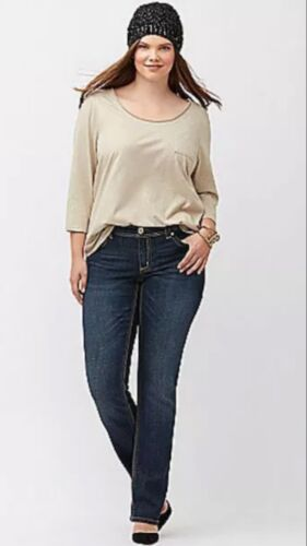 Plus Jeans dritto Mccarthy Melissa Bryant doppio Seven7 Sz 28 Lane w07PqgvRxf
