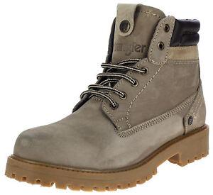 Leder Neu Boots Stiefel Zu Herren Grau Schnürstiefel Wrangler 45 Details 42 Gefüttert D9WEeHb2IY
