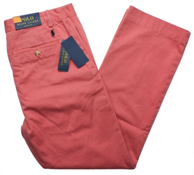 Ralph Lauren Mens Flat Casual Chino Pants
