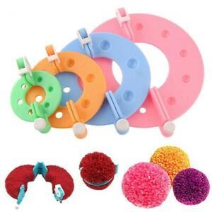 8Pcs-Pompom-Maker-Knitting-Crafts-4-verschiedene-Groessen-Pluesch-Ball-Making-LZ