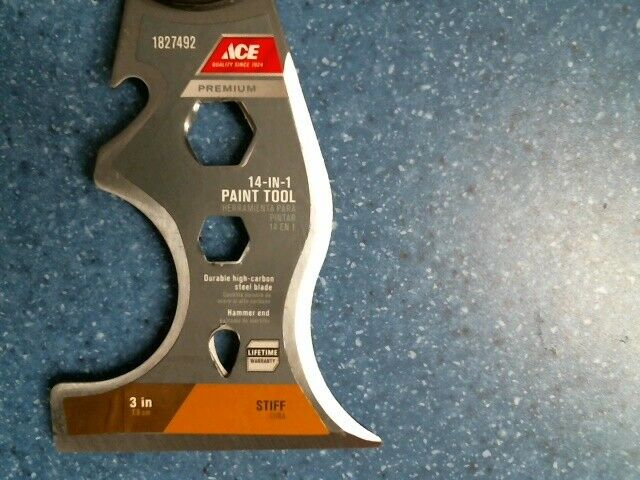 ACE Premium 14 in 1 Paint Tool 1827492 Scraper Screwdriver Multi tool New NICE