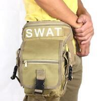 Hunting Camping Swat Tactical Drop Leg Utility Waist Pouch Carrier Belt Bag Pack
