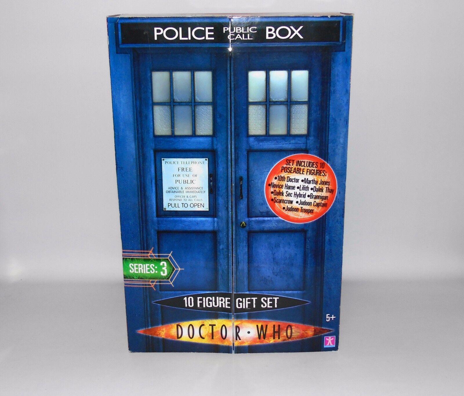 Doctor Who 10 Figura Set Regalo Tardis Dalek Judoon 10th DOTTORE ACTION FIGURE NUOVO