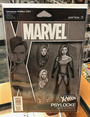 UNCANNY X-MEN 10 2018 JOHN TYLER CHRISTOPHER X-MAN ACTION FIGURE VARIANT NM