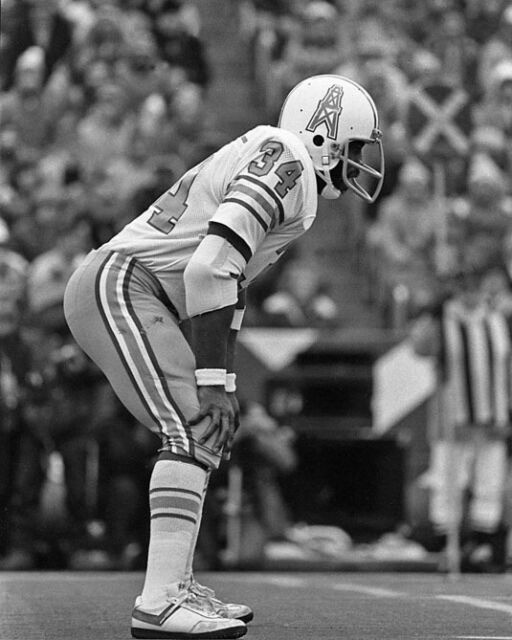 1978 Houston Oilers EARL CAMPBELL Glossy 8x10 Photo NFL Football Print Poster