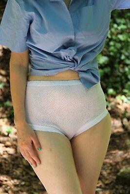 10-14 Donna Cotone Interlock Slip Mutandine Occhielli 100% Cotone Polsino Gamba Bianco-mostra Il Titolo Originale