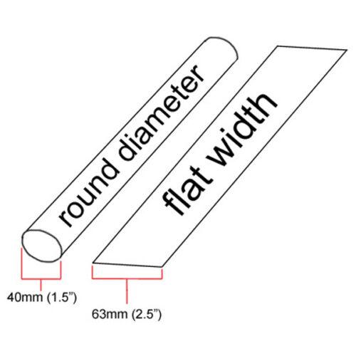 "10 feet inch//ft//to 40mm 1.5/"" ID Black Heat Shrink Tube 2:1 ratio 1-1//2/"" wrap"