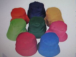 Image Is Loading 12 CHILD BUCKET HATS Caps Hat BIRTHDAY PARTY
