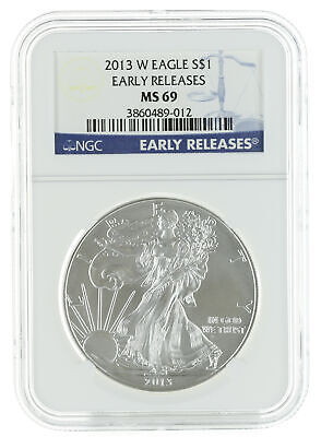 NGC MS69 Early Release $1 ASE 2013 American Silver Eagle