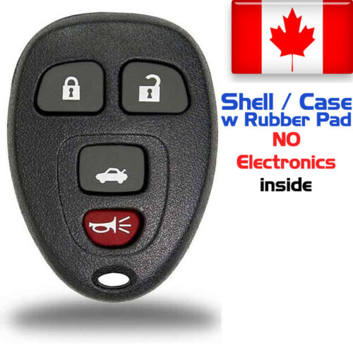 1x New Replacement Keyless Remote Key Fob For Chevy Buick Pontiac Shell Only