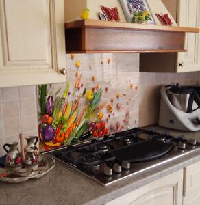 Splashback paraspruzzi paraschizzi cucina pannello legno verdura colori ebay - Pannelli decorativi per cucina ...