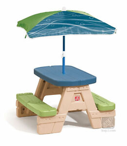 Image Is Loading Step2 Sit Amp Play Picnic Table With Umbrella
