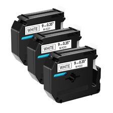 3pk For Brother P Touch Pt 45m Pt 80 Pt 90 M 221 Mk221 Black On White Label Tape